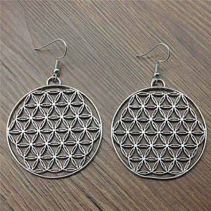 Fashion Handmade The Flower Of Life, The Seed Of Life Charm Drop Earrings, Fashion Earring For Women Dropship