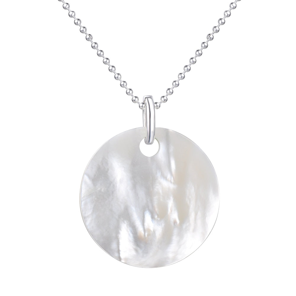 Wholesale Large Mother Of Pearl Disc Pendant Necklace For Women TS-PA121