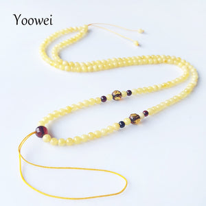3.6mm Amber Necklace Wholesale Genuine Round Small Beads 100% Original Natural Baltic Honey Amber Women Jewelry Supplies