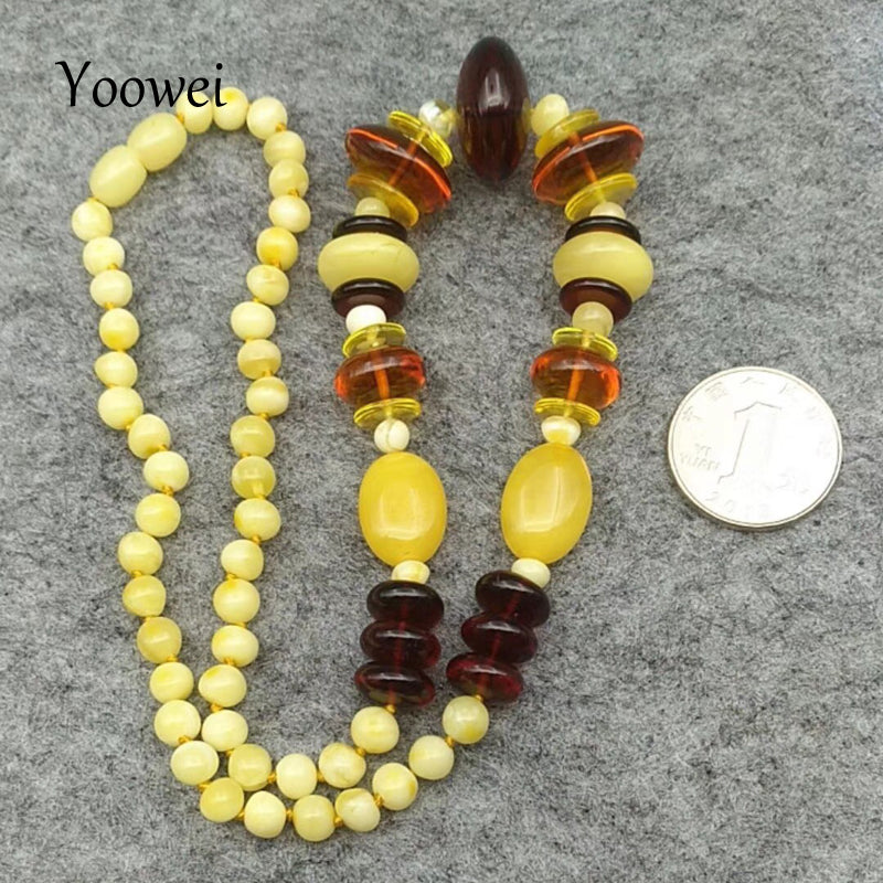 New Baltic Amber Necklace for Women Natural Gems Jewelry Adult Gift Original Genuine Amber Necklace Wholesale 50cm--22.8g
