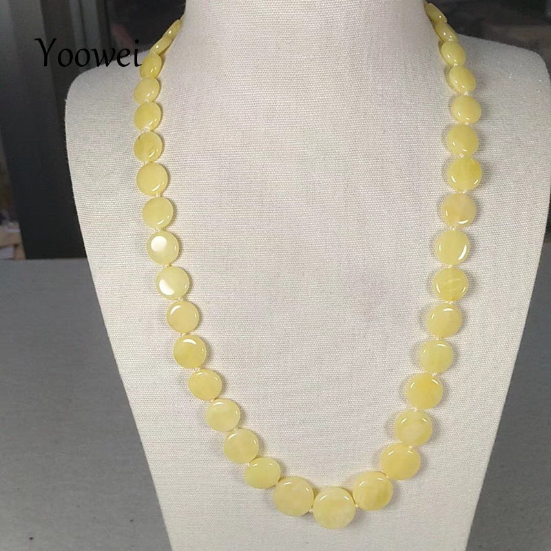 New Baltic Natural Amber Necklace for Women 50cm 13.5g European Jewelry Gift Suppliers Genuine Amber Necklace Wholesale