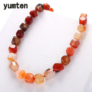 Natural Agate Irregular Original Stone Vintage Women Necklace Fashion Crystal Popular Classic Exquisite Amber Jewelry