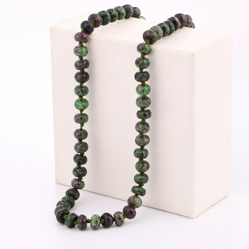 Necklace Power Round Beads Natural Crystal Women's Short Jewelry men And Women Applicable Jewelry New Fashion Hand Making