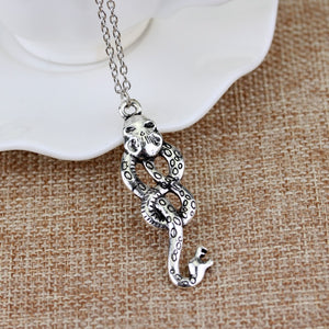 dongsheng Nagini Slytherin Necklaces Horcrux Voldemort Death Eater Snake  Necklaces Vintage Silvery Dark Mark For Women Men-30
