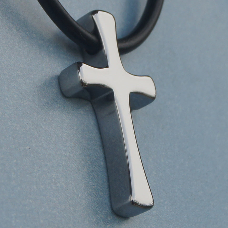 men/women forever classic mini cross hi-tech scratch proof tungsten pendant necklace