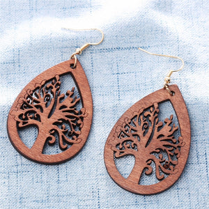 trendy wooden earrings brown life tree brown color italy handmade earrings wooden jewelry for girl 2368