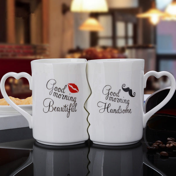 Kissing His and Her Porcelain Coffee (2pcs)