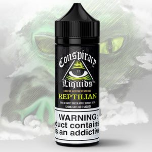 Conspiracy Liquids - Reptilian - Premium E-Liquid - Fruity Gummy Green Apple E-Liquid - Conspiracy Liquids