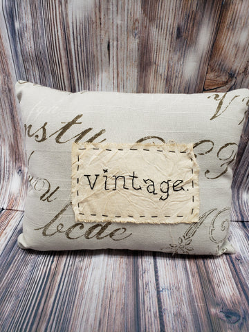 Hand stitched vintage style mini pillow