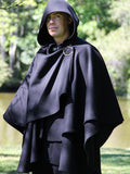 Black Double Cape