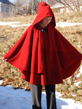Red Double Cape