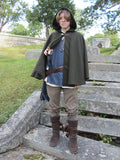 Loden Green Cape