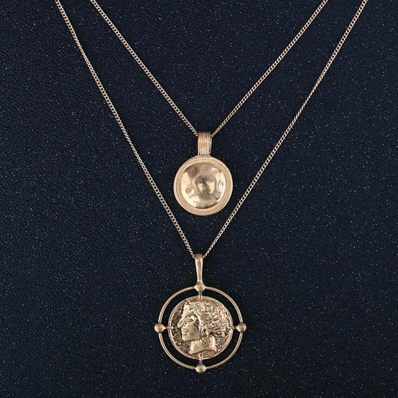 Unique Carved Coin Pendant