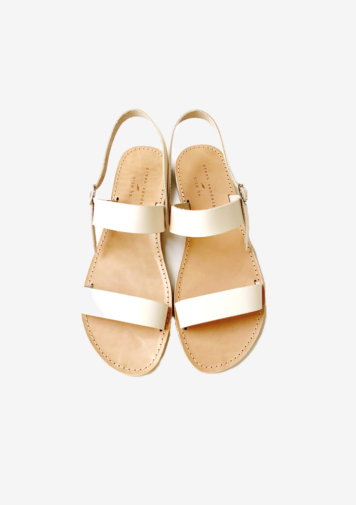 GREEK SANDALS LEVANA CREAM