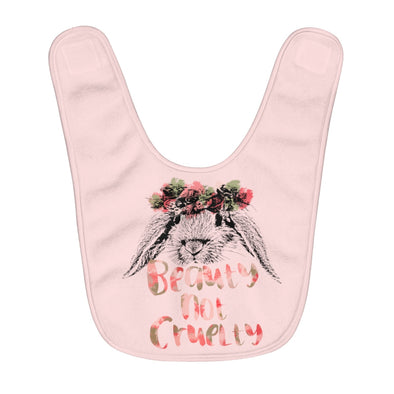 Baby | Beauty Not Cruelty | Fleece Baby Bib