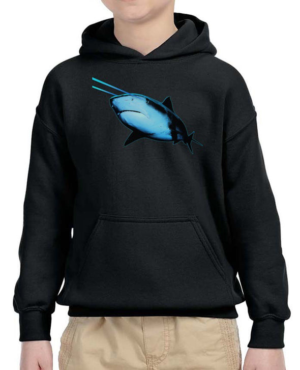Youth Boys | Laser Eye Shark | Hoodie