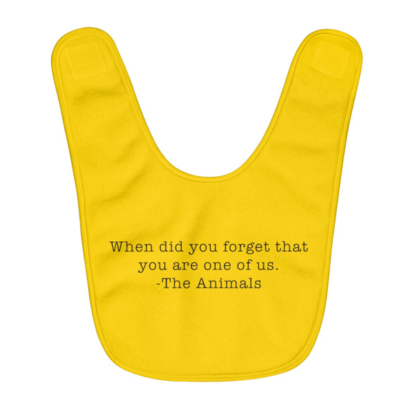 Baby | When Did You Forget | Fleece Baby Bib