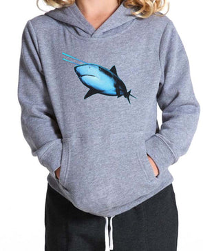 Youth Girls | Laser Eye Shark | Hoodie