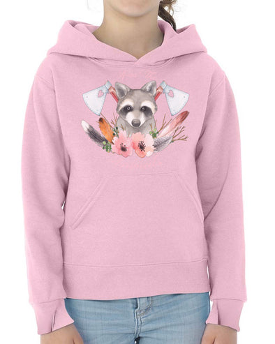 Youth Girls | Woodland Raccoon | Hoodie