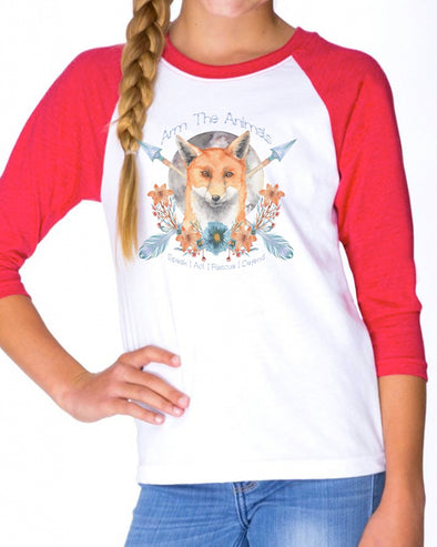 Youth Girls | Fox Confessor | Raglan