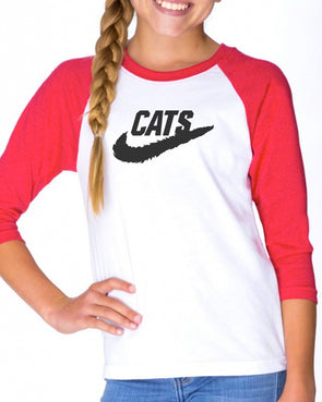 Youth Girls | Just Cats It | Raglan