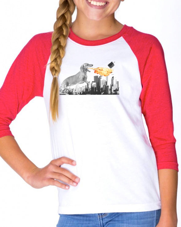 Youth Girls | Dogzilla | Raglan
