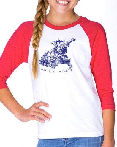 Youth Girls | Turtle Tank | Raglan