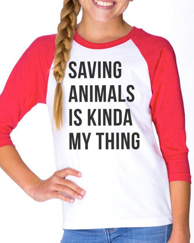 Youth Girls | Saving Animals | Raglan