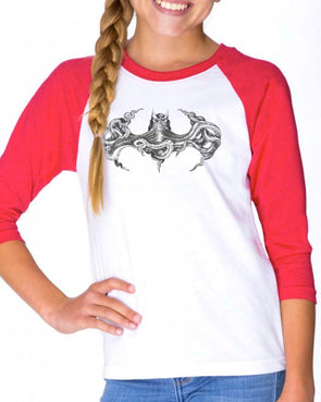 Youth Girls | Octopus Batman | Raglan