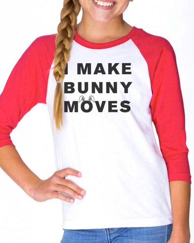 Youth Girls | Bunny Moves | Raglan