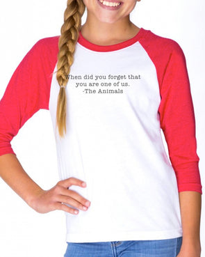 Youth Girls | When Did You Forget | Raglan