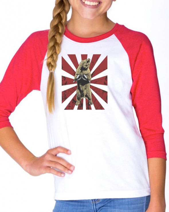 Youth Girls | Bear Traps | Raglan