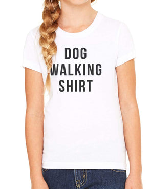 Youth Girls | Dog Walking Shirt | Tee
