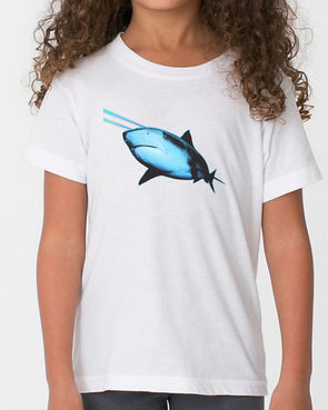 Youth Girls | Laser Eye Shark | Tee