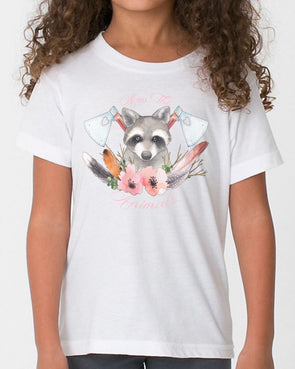 Youth Girls | Woodland Raccoons | Tee