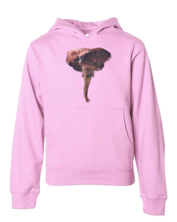 Youth Girls | African Elephant | Hoodie