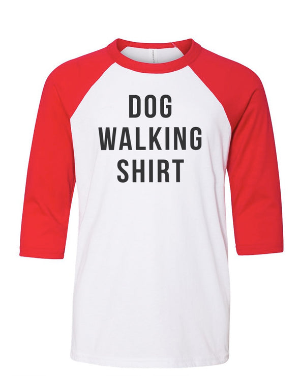 Youth Boys | Dog Walking Shirt | Raglan