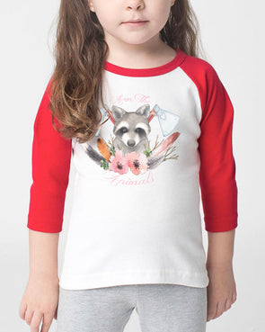 Toddler | Woodland Raccoon | Raglan