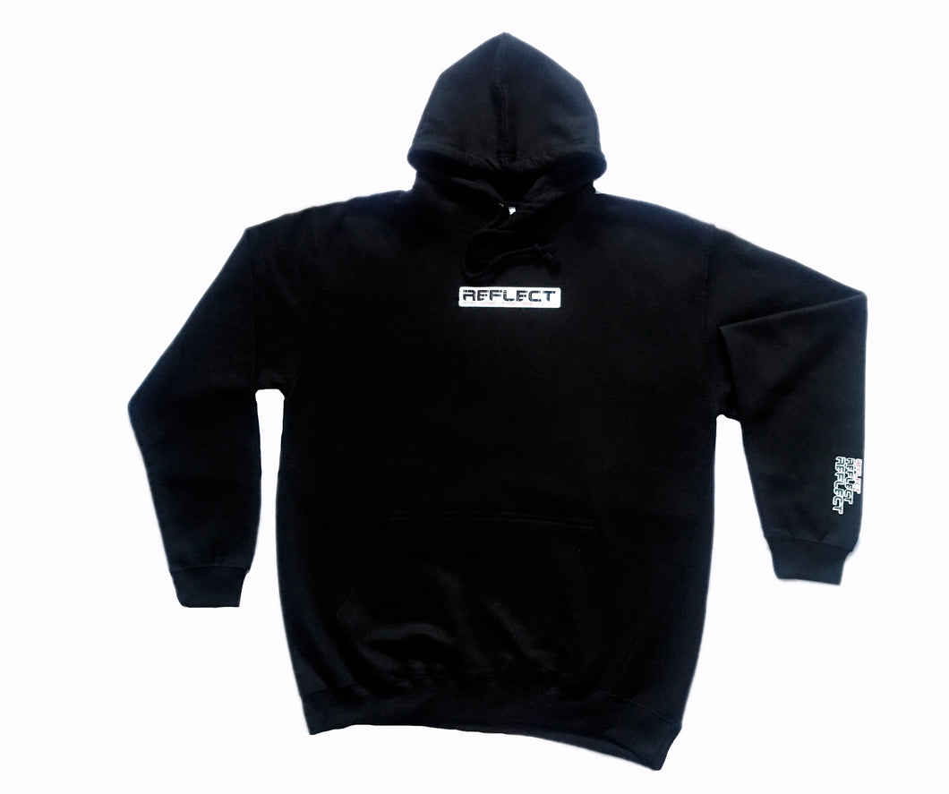 REFLECT BLACK Thick Hoodie [Adult/Teen]