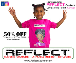 REFLECT Premium Girls CERISE Long Sleeve T-Shirt