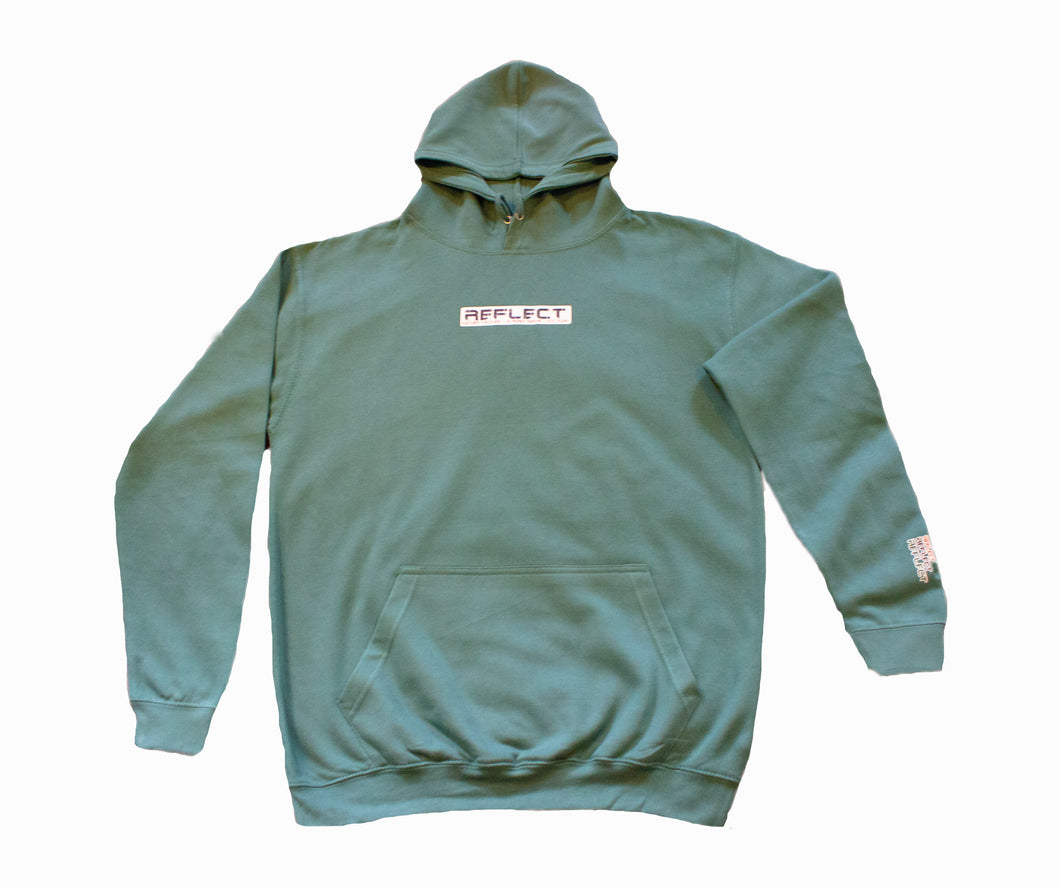 REFLECT MOSS GREEN Thick Hoodie [Adult/Teen]
