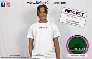 REFLECT Mens Short Sleeve T-Shirt [WHITE]