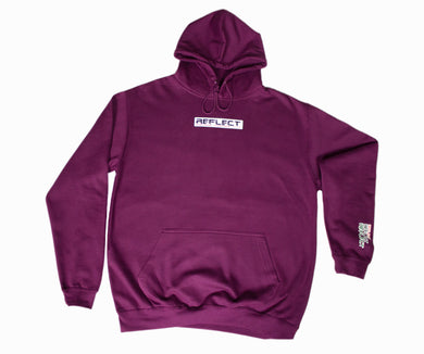 REFLECT PLUM Thick Hoodie [Adult/Teen]