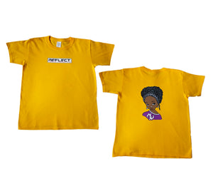 REFLECT Premium Girls GOLD Short-Sleeve T-Shirt [NEW DESIGN]