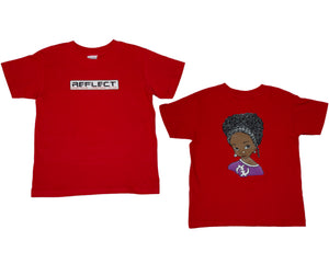 REFLECT Premium Girls RED Short-Sleeve T-Shirt [NEW DESIGN]