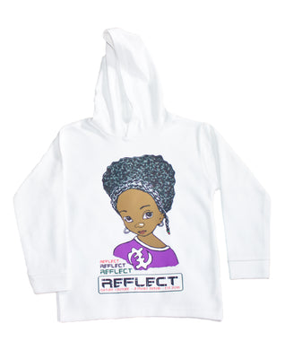 REFLECT Premium Girls WHITE Hoodie