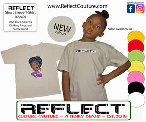 REFLECT Premium Girls SAND Short-Sleeve T-Shirt [NEW DESIGN]