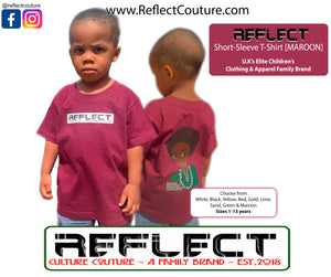 REFLECT Premium Boys MAROON Short-Sleeve T-Shirt [NEW DESIGN]