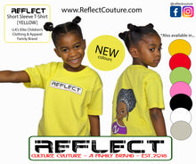 Load image into Gallery viewer, REFLECT Premium Girls YELLOW Short-Sleeve T-Shirt [NEW DESIGN]