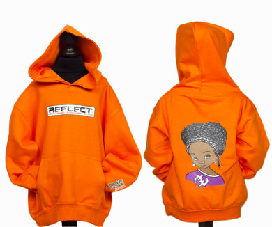 REFLECT Thick Hoodie Girls [ORANGE]